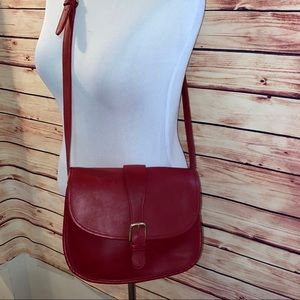 Coach Vintage Crimson Red Saddle Bag/Crossbody